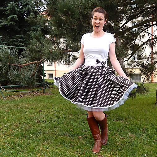 312c46202e52 Hnědá puntíkovaná sukně   Princezna-Pampeliska - SAShE.sk - Handmade ...