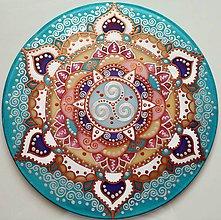 Dekorácie - Mandala inšpirácie a životnej energie - 8594758_