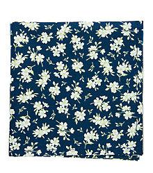 Doplnky - Tmavomodrá vreckovka do saka s kvetmi - 8596275_
