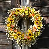 - Jesenný slamenný veniec na dvere - 8594605_