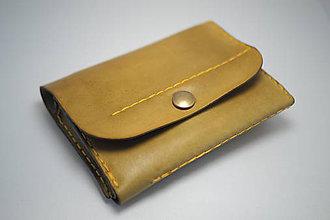 Peňaženky - Kožená peňaženka MontMat-zelená - 8597040_