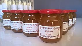 Darčeky pre svadobčanov - Etiketa na včelí med - 8595537_