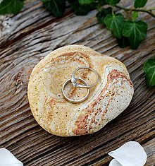 Nádoby - Kamenná mištička na prstienky - 8595918_