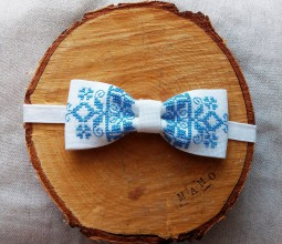 Iné doplnky - Ondro-folklórny motýlik modrý - 8596929_