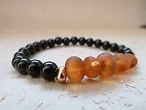 Náramky - náramek Natural ... Jantar (Raw Baltic amber) - 8598239_