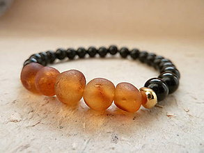 Náramky - náramek Natural ... Jantar (Raw Baltic amber) - 8598234_