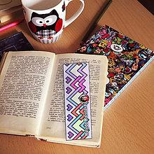 Papiernictvo - Záložka do knihy s menom a fotkou 24 (dúhová) - 8594538_