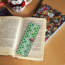 Papiernictvo - Záložka do knihy s menom a fotkou 26 (dúhová) - 8594548_