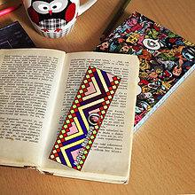Papiernictvo - Záložka do knihy s menom a fotkou 28 (dúhová) - 8594550_