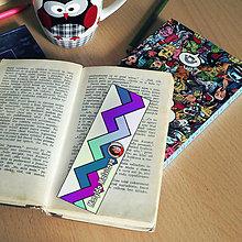 Papiernictvo - Záložka do knihy s menom a fotkou 31 (dúhová) - 8595356_