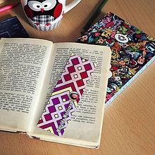 Papiernictvo - Záložka do knihy s menom a fotkou 34 (dúhová) - 8595359_