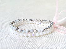 Náramky - Winter pyramides bracelets - 8600905_