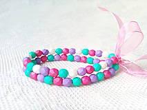 Náramky - Watermelon paradise bracelet - 8600928_