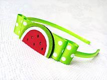 Ozdoby do vlasov - Watermelon headband - 8600984_