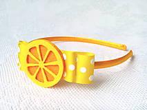 Ozdoby do vlasov - Lemon headband - 8601026_
