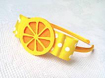 Ozdoby do vlasov - Lemon headband - 8601027_