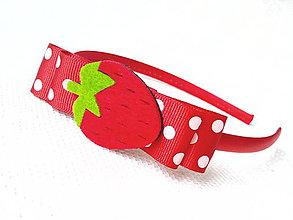 Ozdoby do vlasov - Strawberry headband - 8600952_