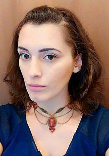 Náhrdelníky - Queen Elisabeth Jasper Necklace / Starobylý náhrdelník s jaspismi /0490 - 8601233_