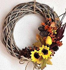 Dekorácie - Jesenný veniec-ihneď k odberu - 8599577_