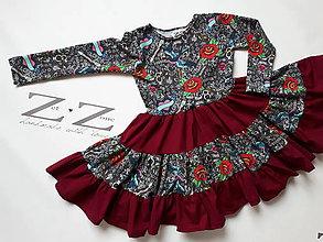 Detské oblečenie - Riasené šatičky - 8601658_