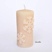 Svietidlá a sviečky - Flocon - mandľová sviečka - 8602364_