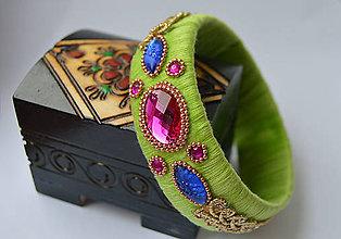 Náramky - indický náramok na ruku (11.) - 8600863_