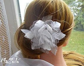 Ozdoby do vlasov - Nežná svadobná spona - 8600230_