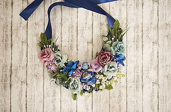 Náhrdelníky - Kvetinový náhrdelník - 8600859_