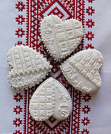 Darčeky pre svadobčanov - Perníkové srdiečko 7,5 cm - 8599687_