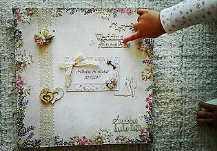 Papiernictvo - Levanduľová kniha hostí maxi - 8600253_