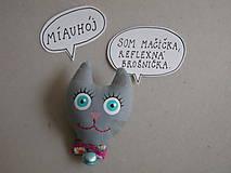 - Mačička - reflexná brošnička - 8600184_
