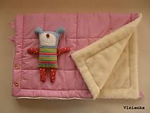 Textil - Deka a fusak DANIEL 2 v 1 100% merino Top Super wash Bodka ružová pastelová - 8600105_