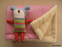 Textil - Deka a fusak DANIEL 2 v 1 100% merino Top Super wash Bodka ružová pastelová - 8600123_
