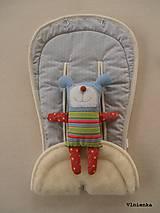 Textil - MERINO podložka do kočíka BUGABOO Bee / Buffalo/ Cameleon/ Donkey/ Joolz 100% WOOL Seat Liner Star Grey melange - 8602704_