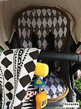 Textil - MERINO podložka do kočíka BUGABOO Bee / Buffalo/ Cameleon/ Donkey/ Joolz 100% WOOL Seat Liner Star Grey melange - 8602719_