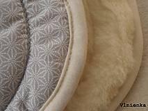Textil - MERINO podložka do kočíka BUGABOO Bee / Buffalo/ Cameleon/ Donkey/ Joolz 100% WOOL Seat Liner Star Grey melange - 8602753_