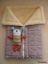 Textil - Deka a fusak DANIEL 2 v 1 100% merino Top Super wash KVIETOK fialovo hnedý - 8602861_