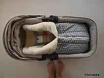 Textil - Deka a fusak DANIEL 2 v 1 100% merino Top Super wash KVIETOK fialovo hnedý - 8602870_