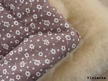 Textil - Deka a fusak DANIEL 2 v 1 100% merino Top Super wash KVIETOK fialovo hnedý - 8602877_
