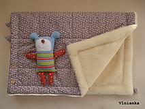 Textil - Deka a fusak DANIEL 2 v 1 100% merino Top Super wash KVIETOK fialovo hnedý - 8602884_