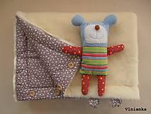 Textil - Deka a fusak DANIEL 2 v 1 100% merino Top Super wash KVIETOK fialovo hnedý - 8602887_
