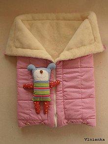 Textil - Deka a fusak DANIEL 2 v 1 100% merino Top Super wash Bodka ružová pastelová - 8600103_