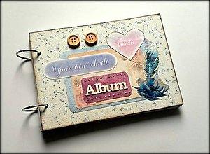 Papiernictvo - Vintage svadobný album/ kniha hostí A5 - 8599651_