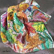 Šatky - Jeseň, pani bohatá- hodvábna maľovaná šatka - 8599809_