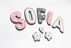 SOFIA 6 cm písmenká