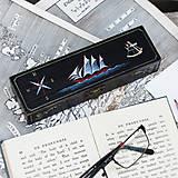Taštičky - Puzdro s plachetnicou (ručne maľované) - 8599823_