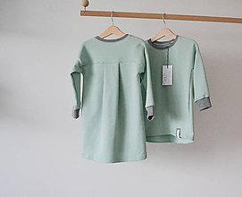 Detské oblečenie - Šaty- mint Jelena - 8599149_