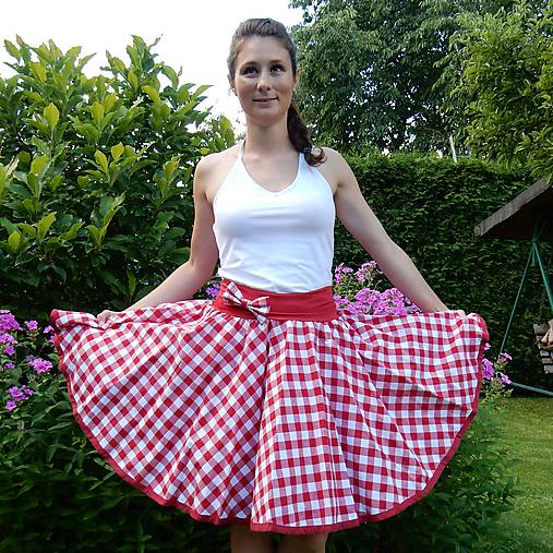 71536ac5949 Červená kostkovaná sukně   Princezna-Pampeliska - SAShE.sk ...