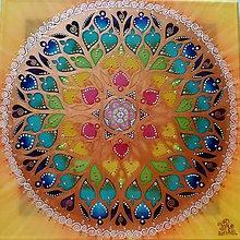 Obrazy - Mandala Ružicové okno kaplnky Sainte- Chapelle - 8599389_