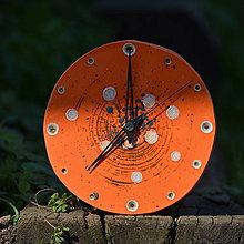Hodiny - Keramické hodiny Kruh střední - Oranžáda - 8602310_